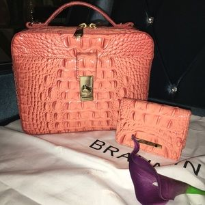 Brahmin Evie & mini wallet 'Poppy' NWT